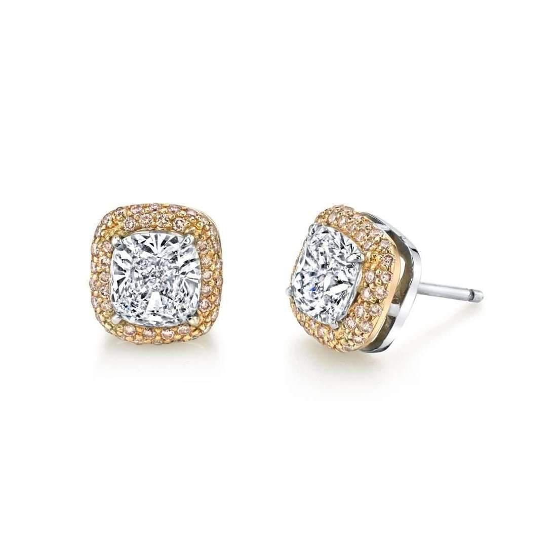 Harry Kotlar Kotlar Cushion Three-Stone Pave Drop Earrings jmisaK45Wa