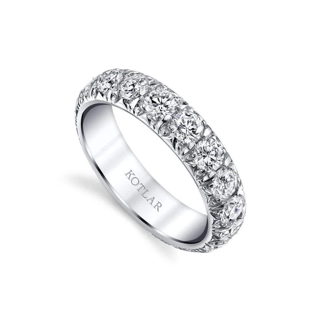 Harry Kotlar Leaf Artisan Pave Band - UK M - US 6 - EU 52 3/4 YK7XxJn3P