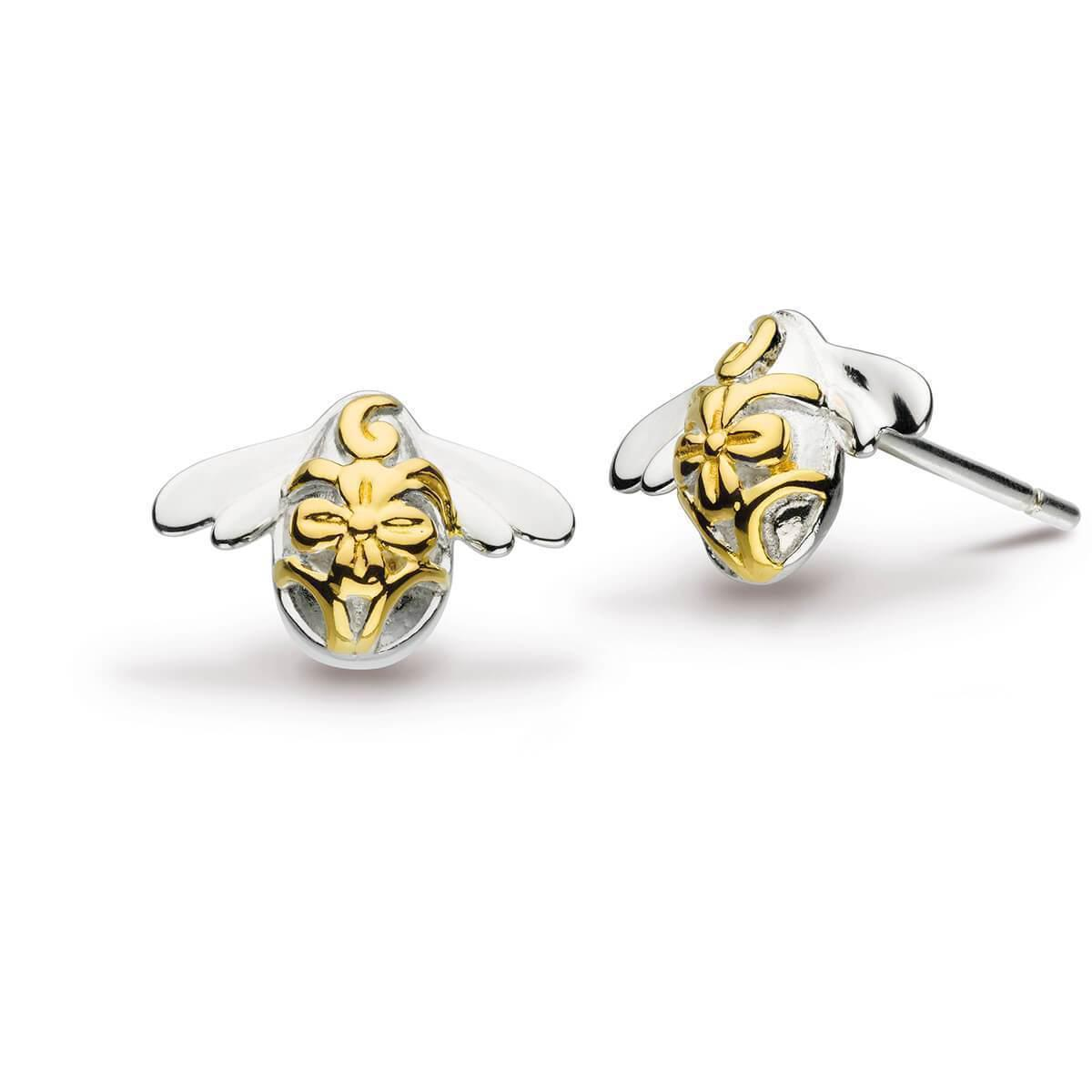 Lyst - Kit Heath Blossom Bumblebee Gold Plate Stud Earrings