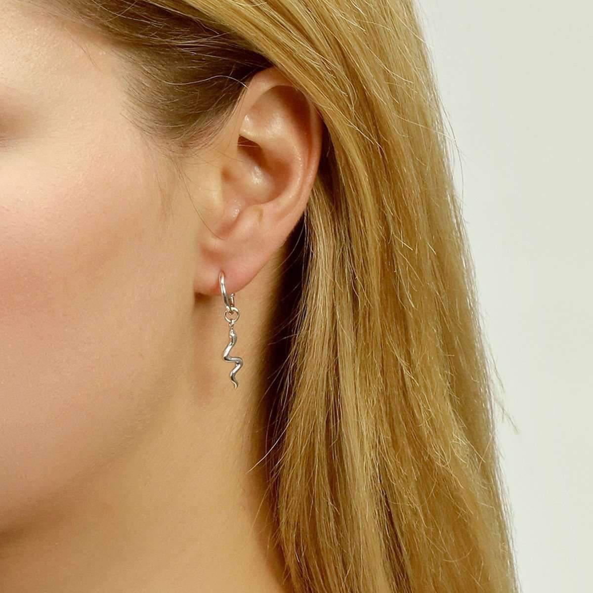 Jana Reinhardt Gold Plated Silver Snake Creole Ear Studs b4GnSg6T