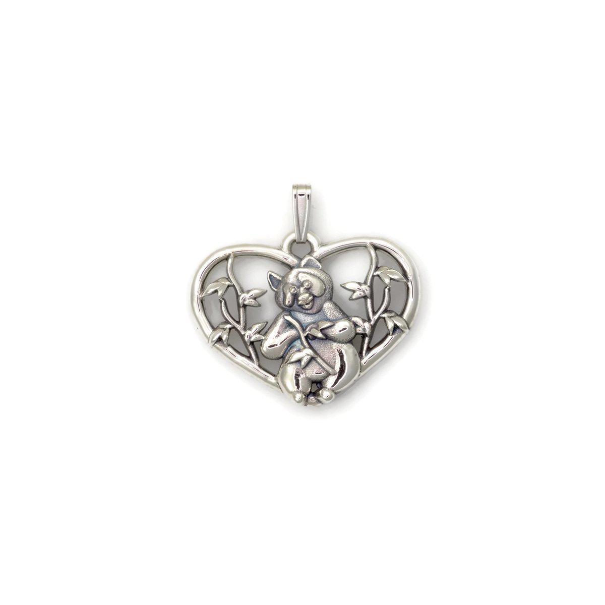 Donna Pizarro Designs Sterling Silver Panda Bear Necklace CFm5B