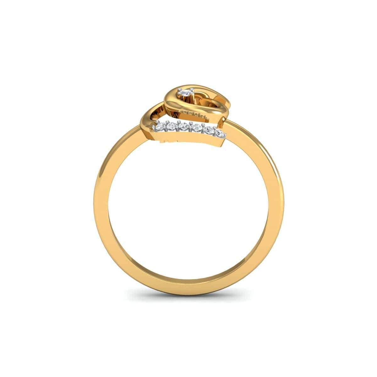 Diamoire Jewels 18kt Yellow Gold Pave 0.04ct Diamond Infinity Ring IV - UK G 1/4 - US 3 1/2 - EU 45 3/4 KEjUwh4tR