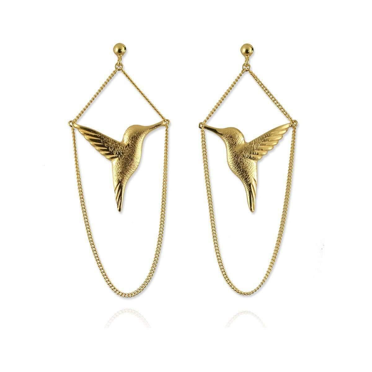 Jana Reinhardt Gold Plated Silver Hummingbird Studs fLcXt3UB99