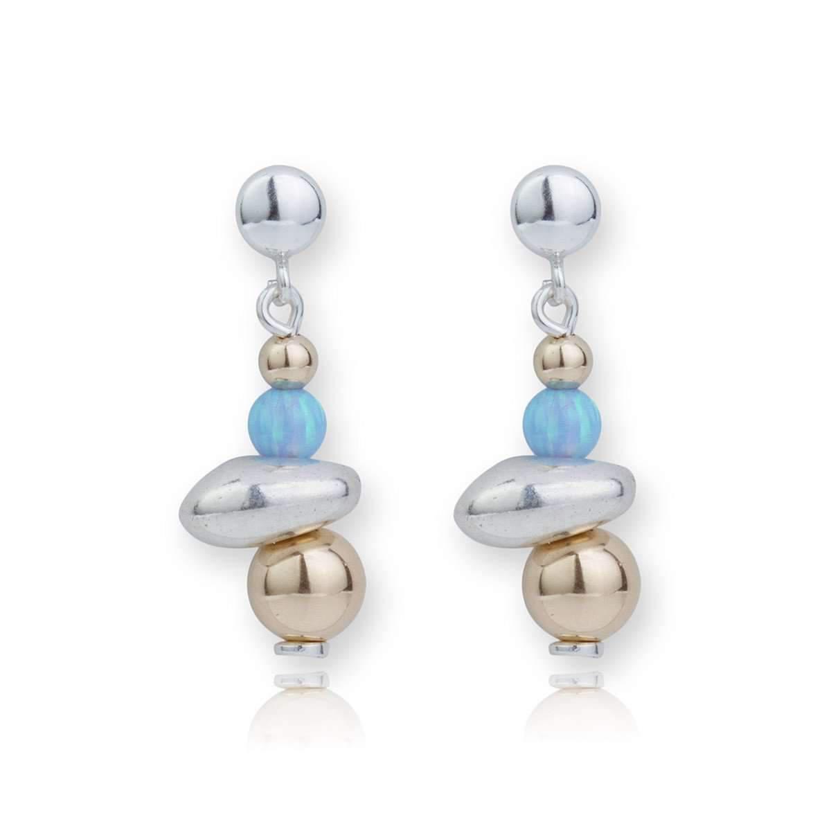 Lavan Sterling Silver Blue Opal Drop Earrings ojDBw