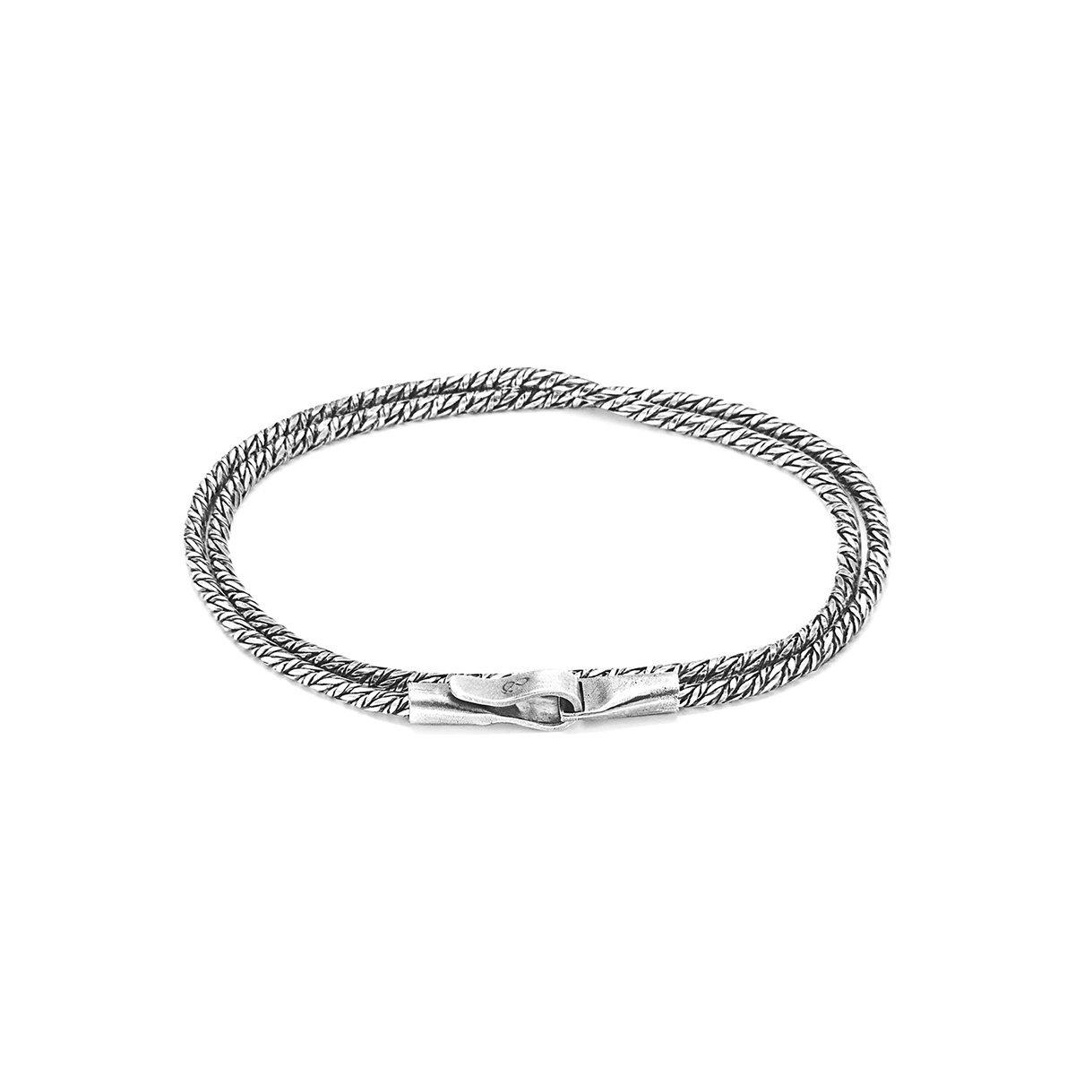 Anchor & Crew Mizzen Single Sail Silver Chain Bracelet - 21cm pjQVwV65kN