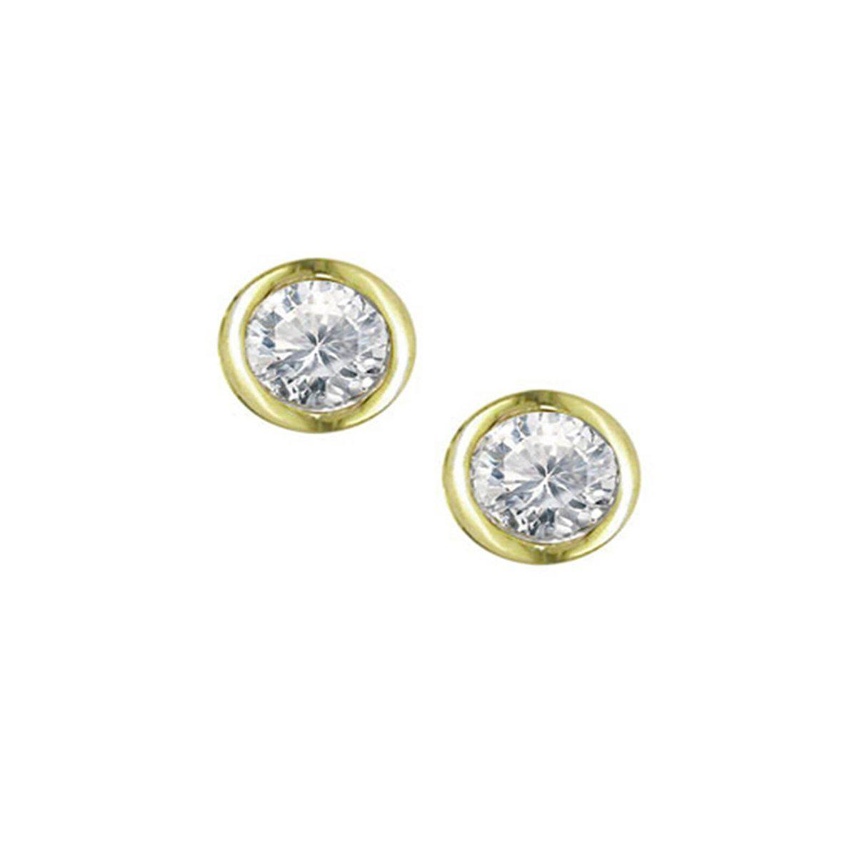 London Road Jewellery Yellow Gold Diamond Solitaire Raindrop Earrings UUb928e