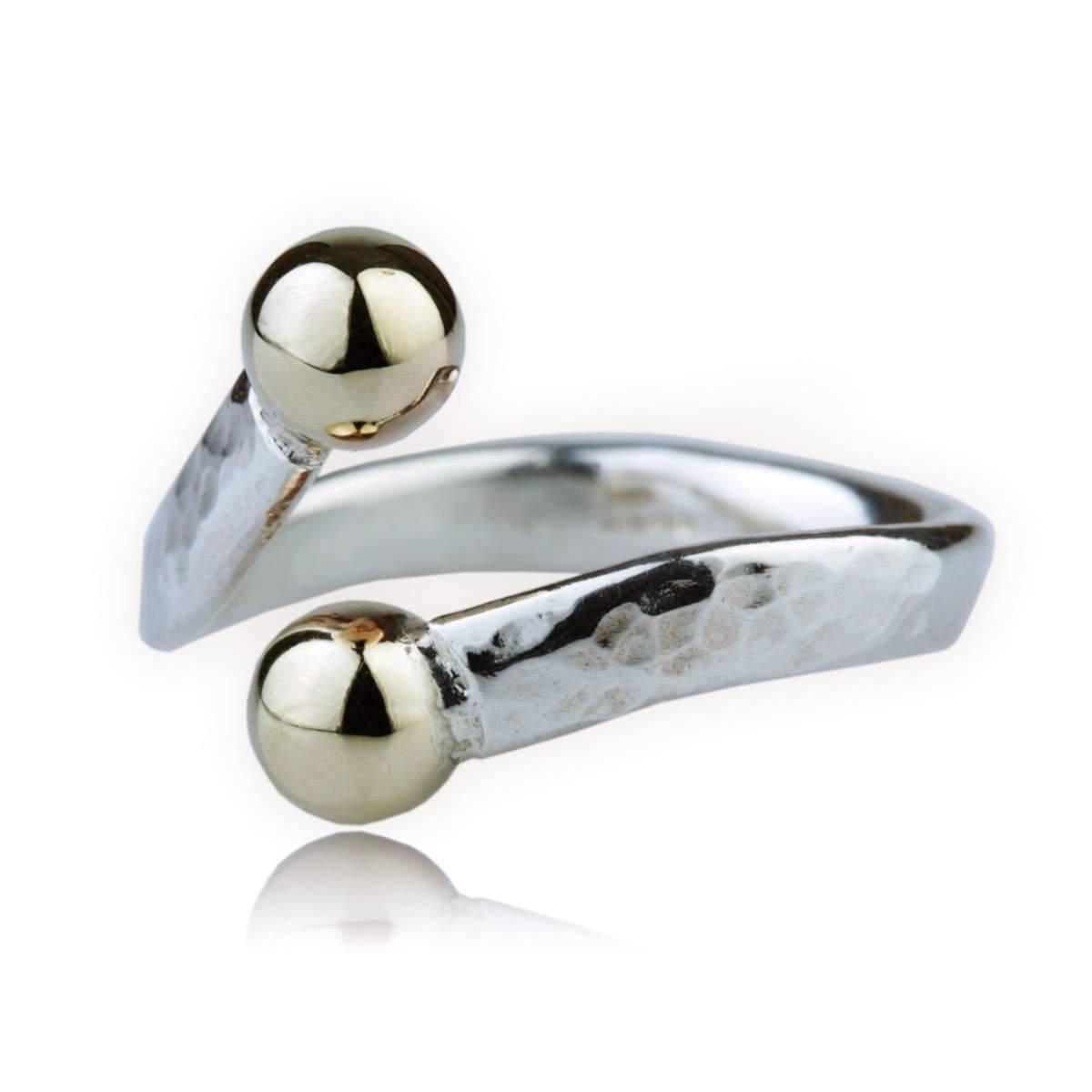 Lavan 9kt Gold & Sterling Silver Flower Ring - UK K 1/2 - US 5 3/8 - EU 50 3/4 uqLPvq8KT
