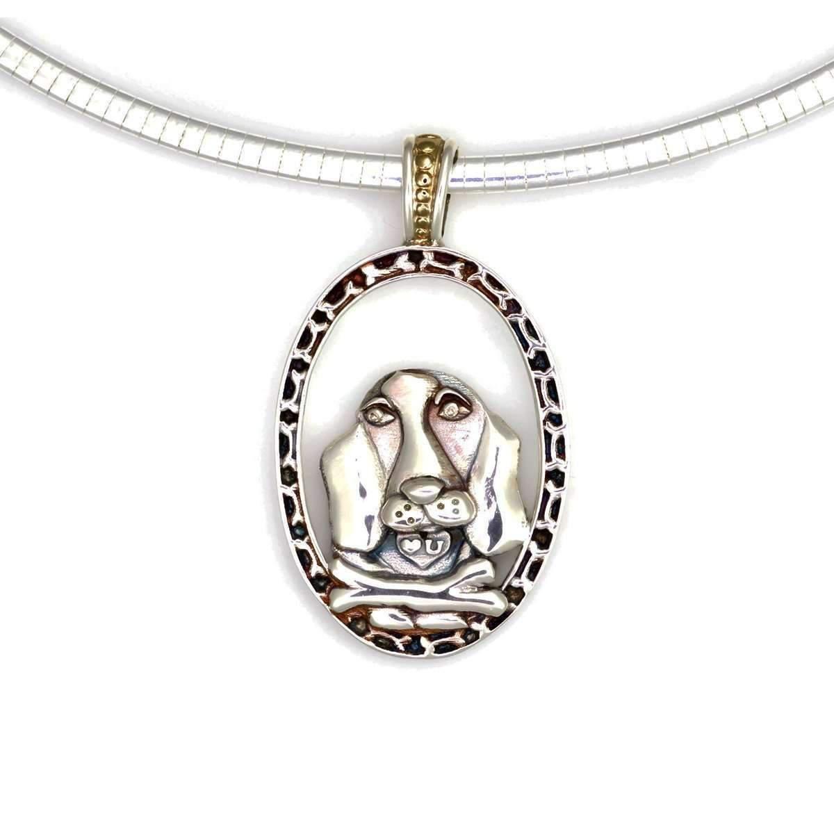 Donna Pizarro Designs Sterling Silver Afghan Hound Necklace 0vmpsvFZr