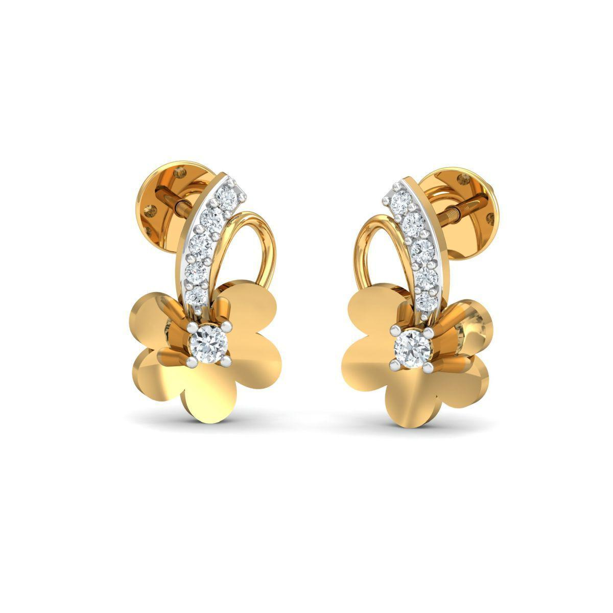 Diamoire Jewels 18kt Yellow Gold 0.10ct Pave Diamond Infinity Earrings II m60By
