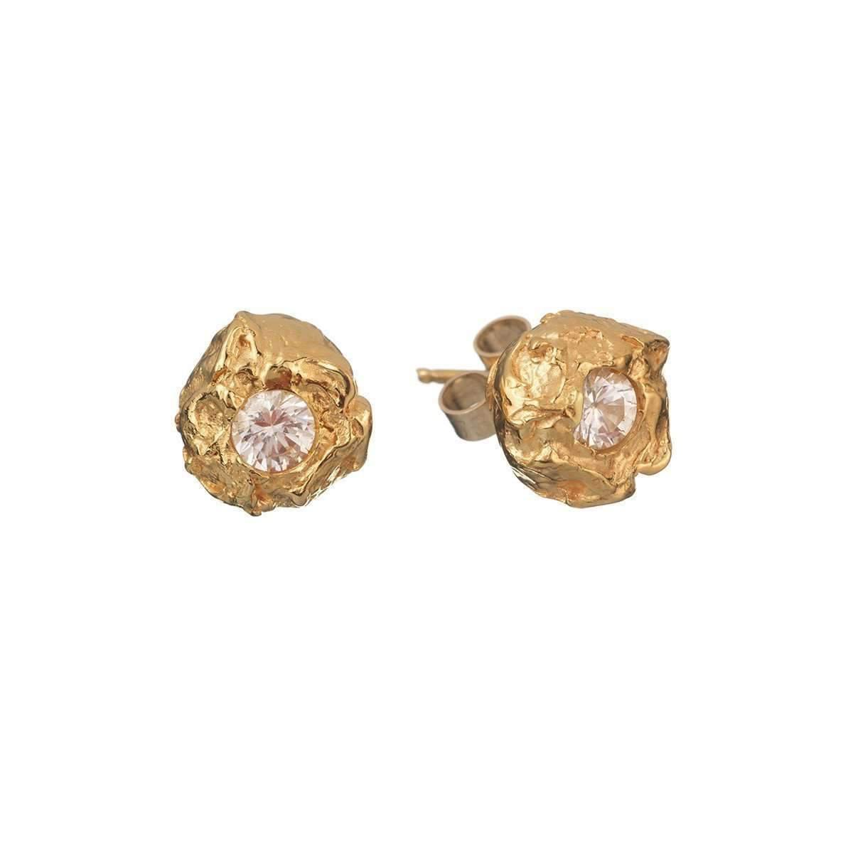 Deborah Blyth Jewellery Lula White Sapphire Stud Earrings egMwLCWTJ