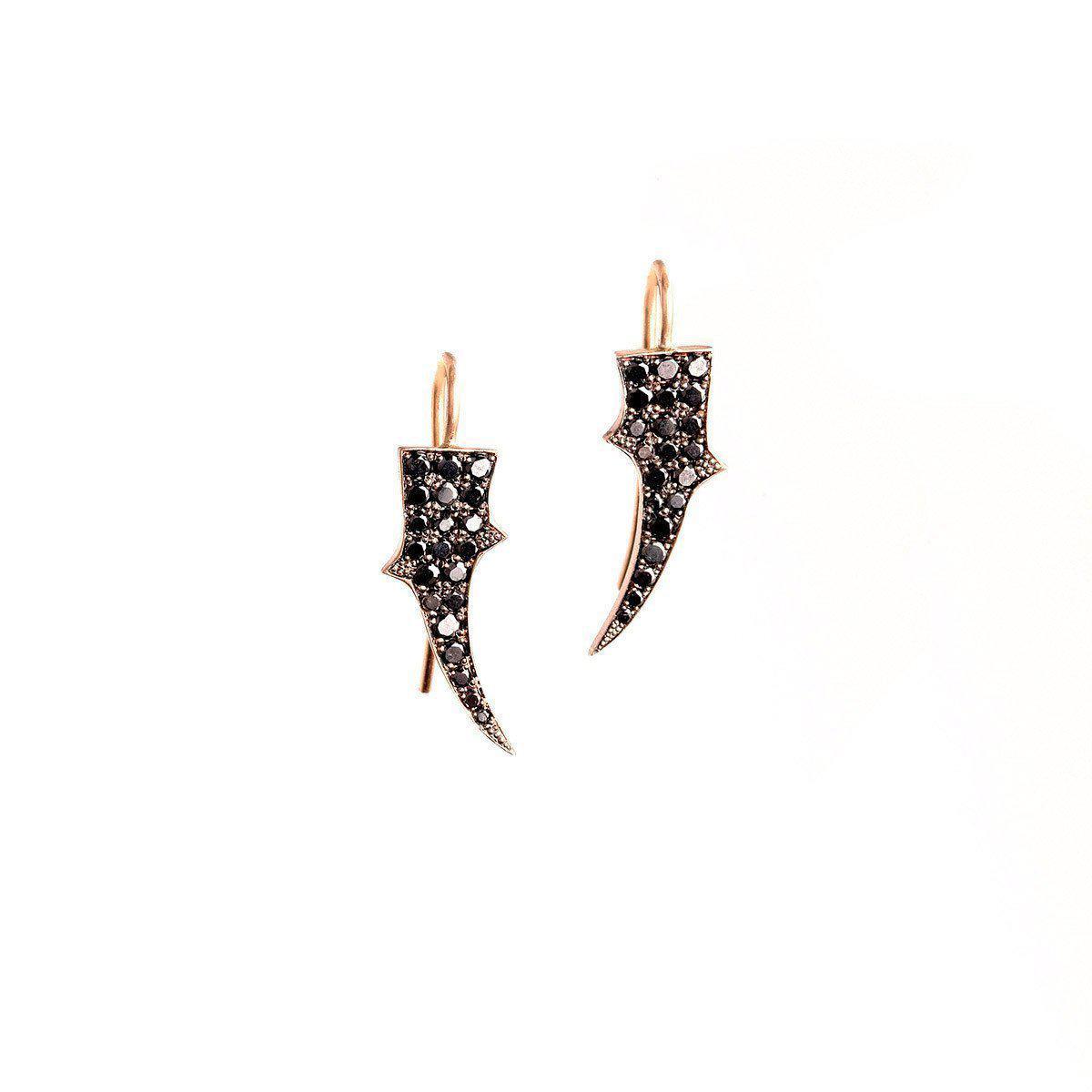 Sylva & Cie. Black Diamond Thorn Earrings xsisF6vSz