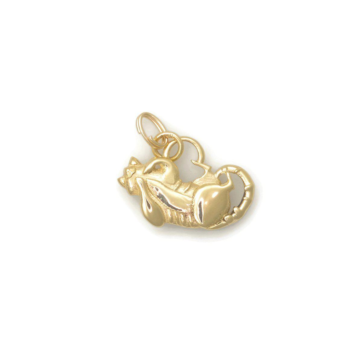 Donna Pizarro Designs 14kt Yellow Gold Tabby Cat Charm WjL7Rs5T