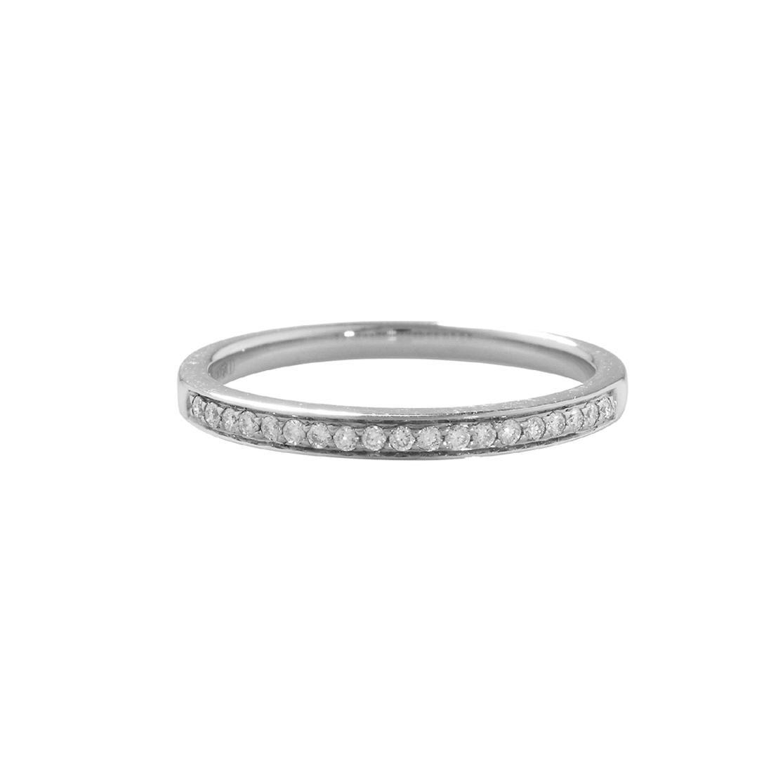 London Road Jewellery Luxury White Diamond Grain Set Stack Ring - UK L - US 5 1/2 - EU 51 3/4 7Q83Vakd