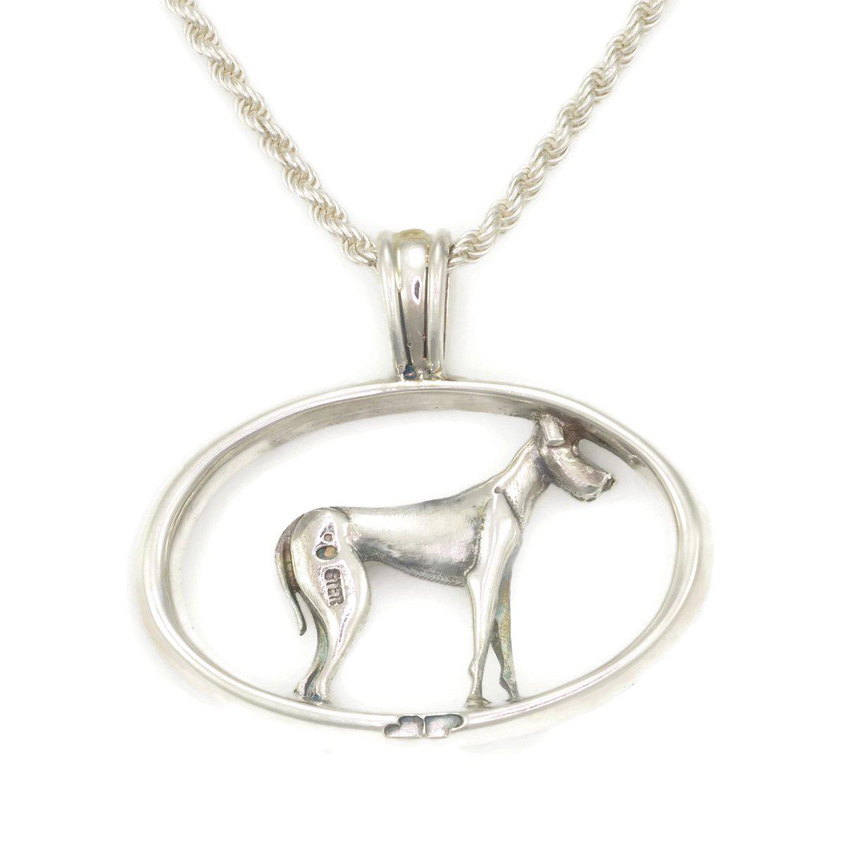 Donna Pizarro Designs Sterling Silver Great Dane Necklace With 14kt Accent u2N0IhGrA