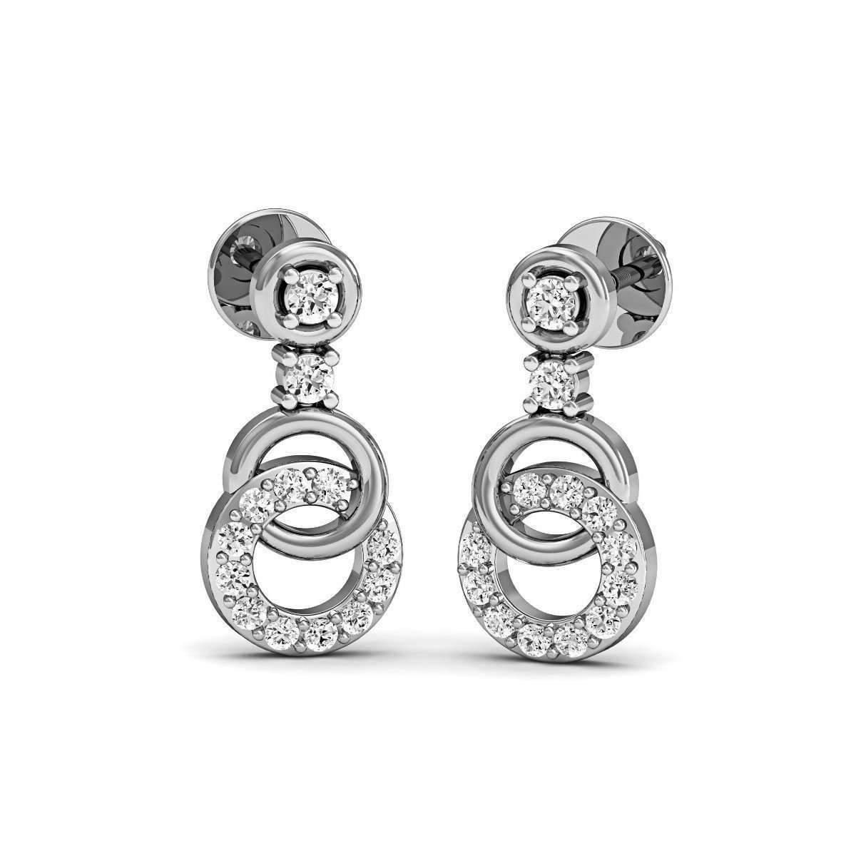 Diamoire Jewels Matchless Diamond Stud Earrings in 18kt White Gold iyiIt68