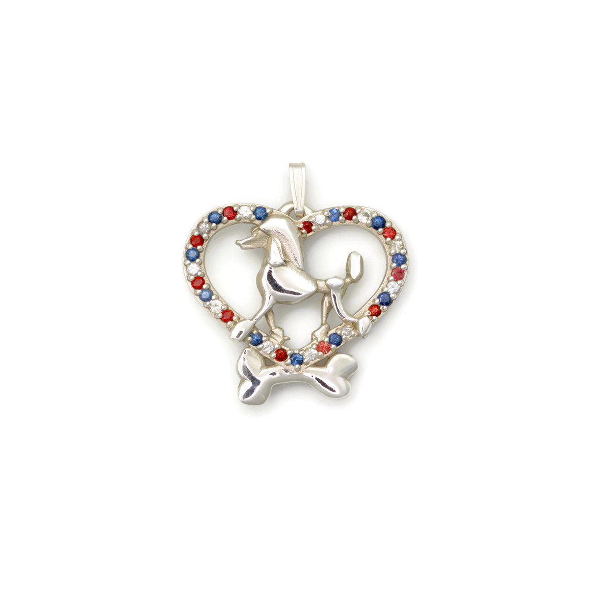 Donna Pizarro Designs Sterling Silver And Sapphire Poodle Necklace With 33 Sapphires sfJDoV7y
