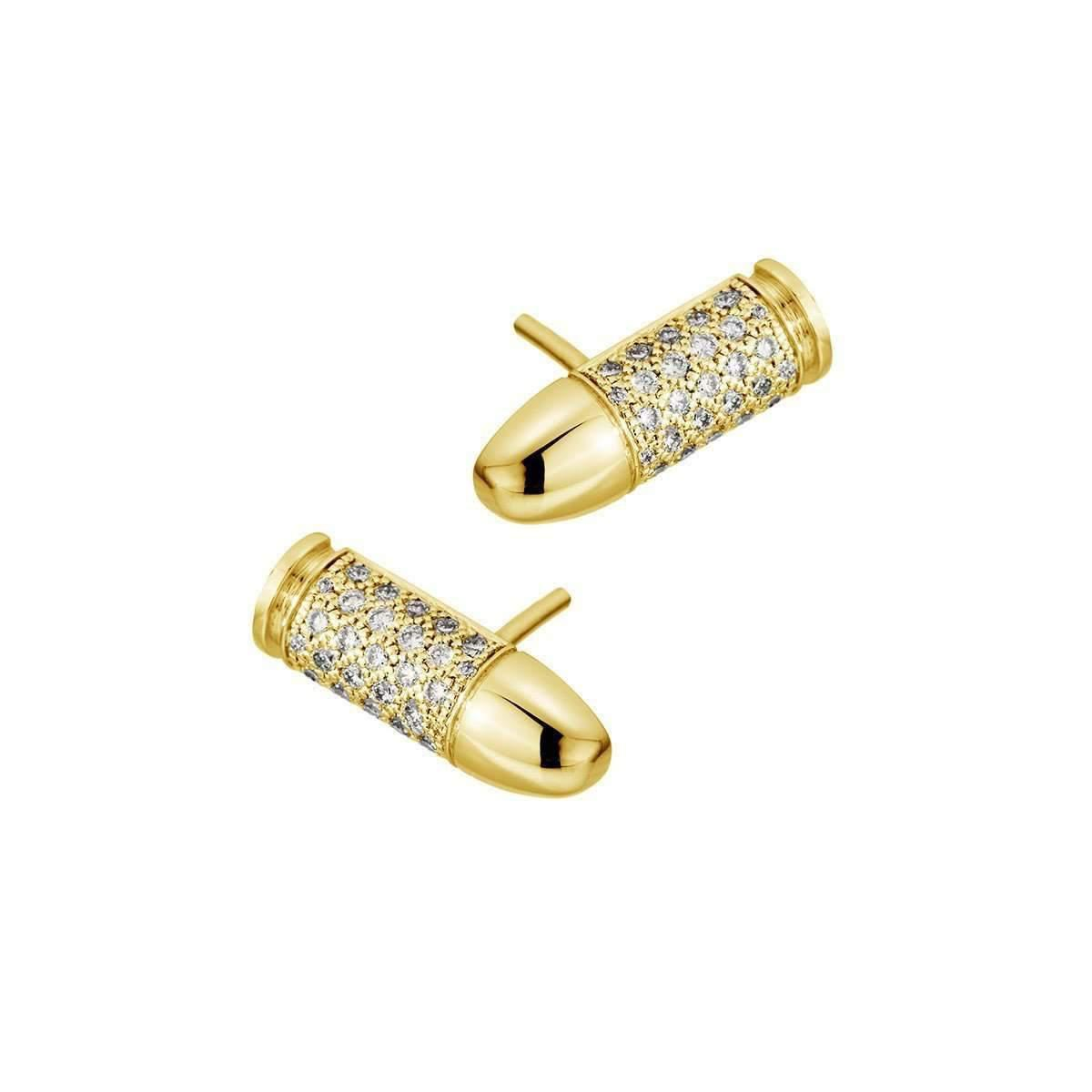 Akillis Mini Puzzle Yellow Gold Clip Earrings XTi3tNd