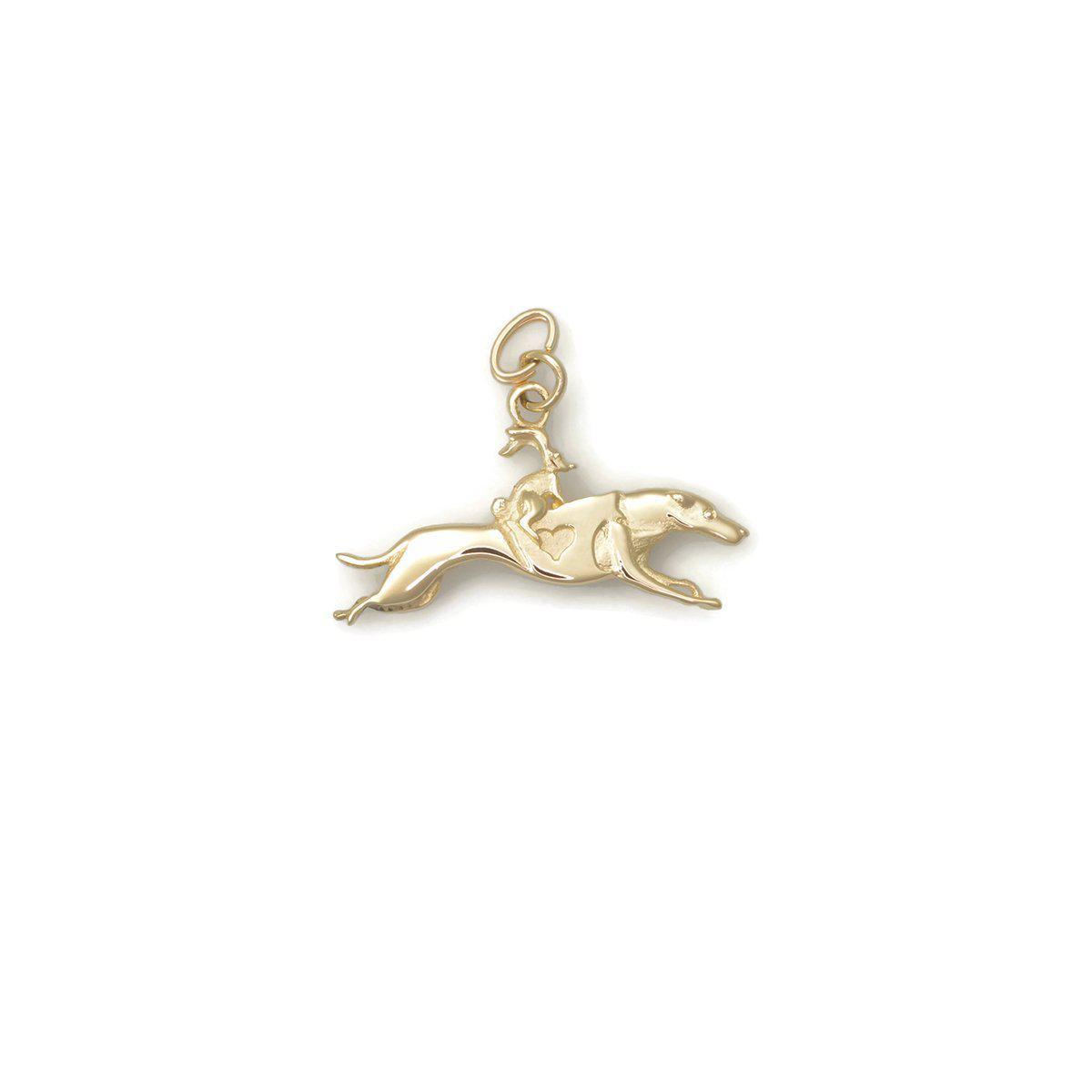 Donna Pizarro Designs 14kt Yellow Gold Greyhound Charm iFuYEt