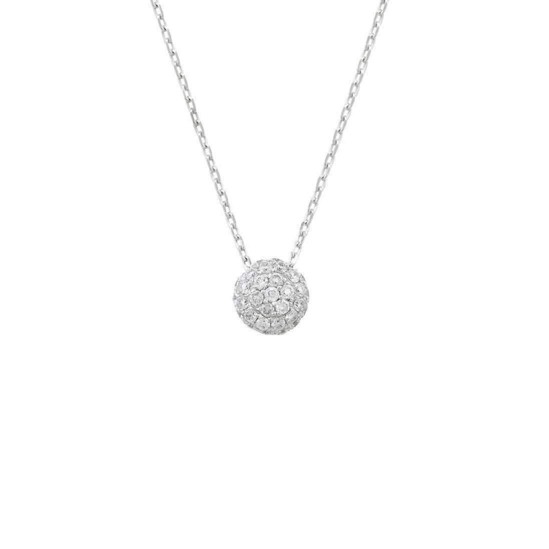 London Road Jewellery Bloomsbury White Gold Black Diamond Ball Pendant 2Ovbow1Dk