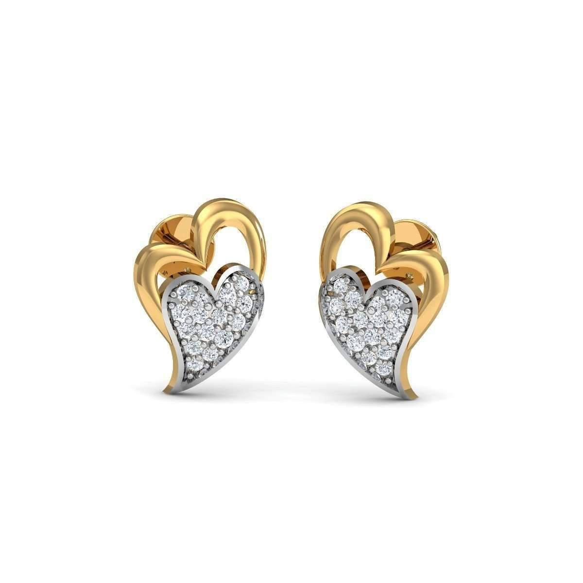Diamoire Jewels Aileron Diamond Stud Earrings in 18kt Rose Gold hTgDQ4buXg