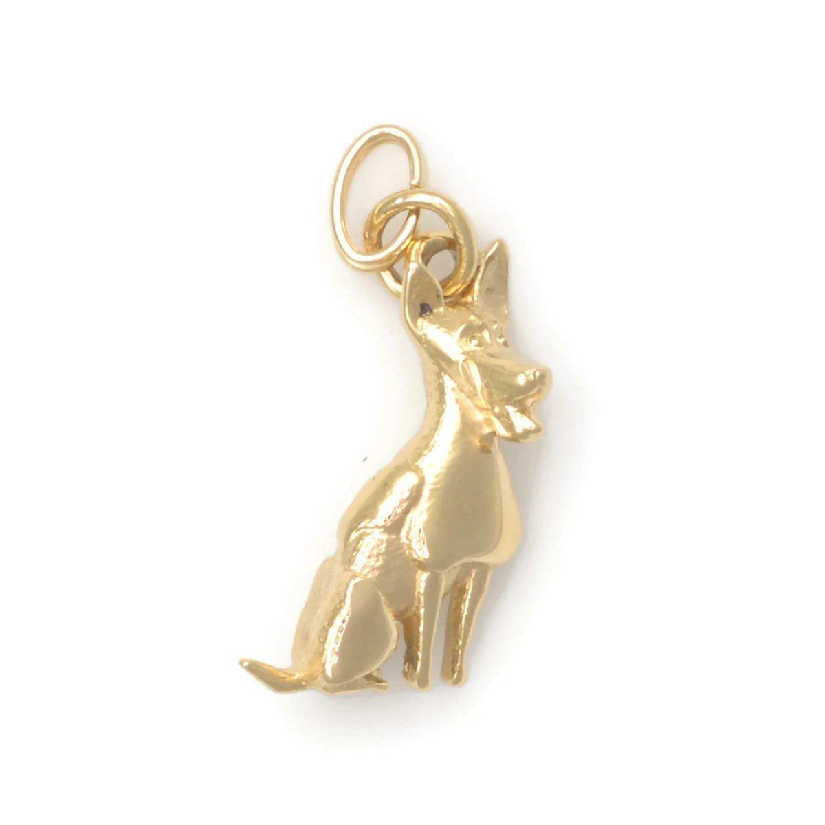 Donna Pizarro Designs 14kt Yellow Gold Rat Terrier Charm VMxdFy