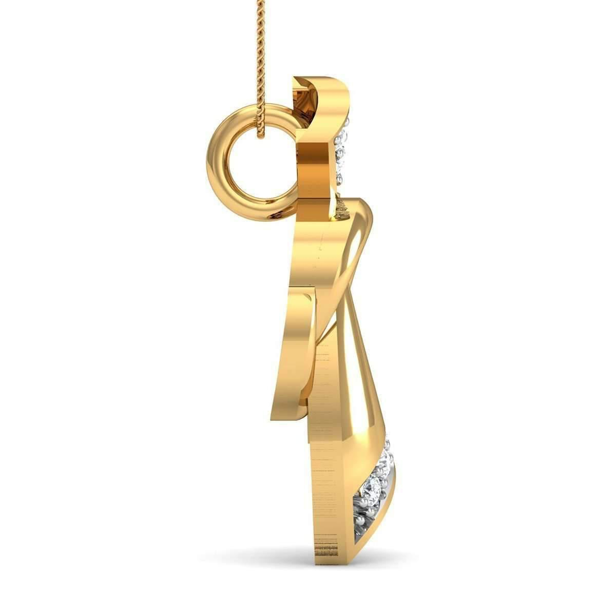 Diamoire Jewels Pave Set 7 Diamond Pendant Inspired by Nature in 10kt Rose Gold wwMGyKI