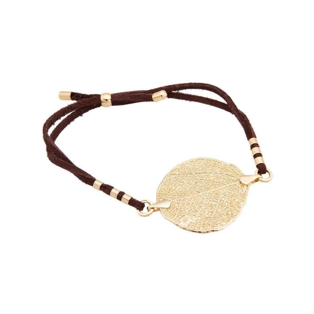 Amazona Secrets 18kt Gold 5 Leaf Savannah Leaf Bracelet HhjP14NA8n