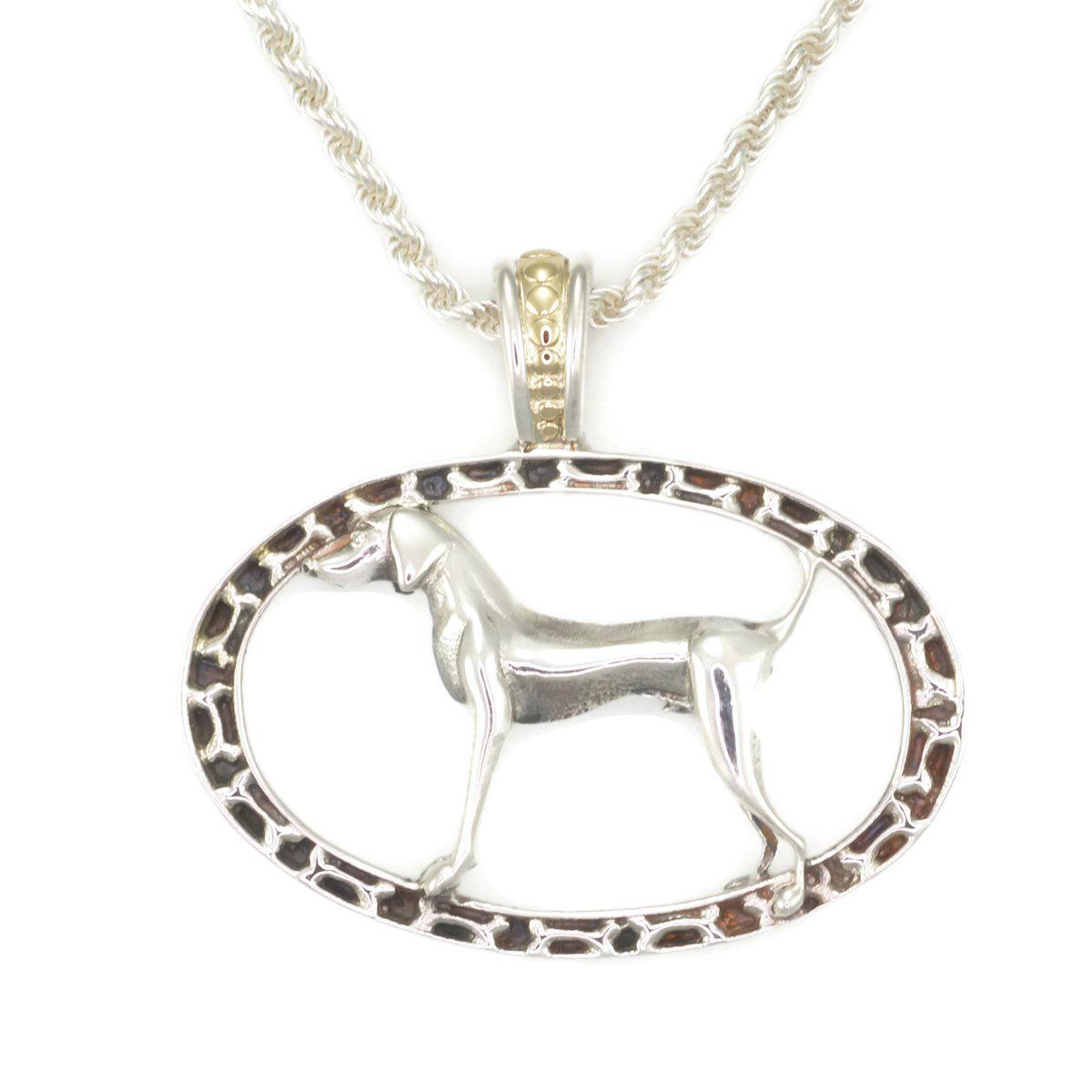 Donna Pizarro Designs Sterling Silver Girl Pug Necklace With 14kt Accent WlQFinqS