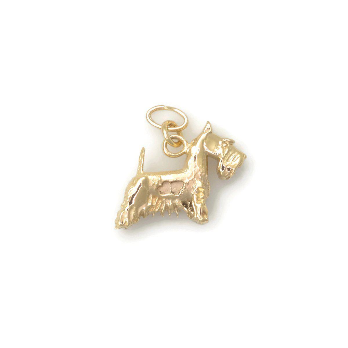 Donna Pizarro Designs 14kt Yellow Gold Scottish Terrier Charm Q3BeTPw