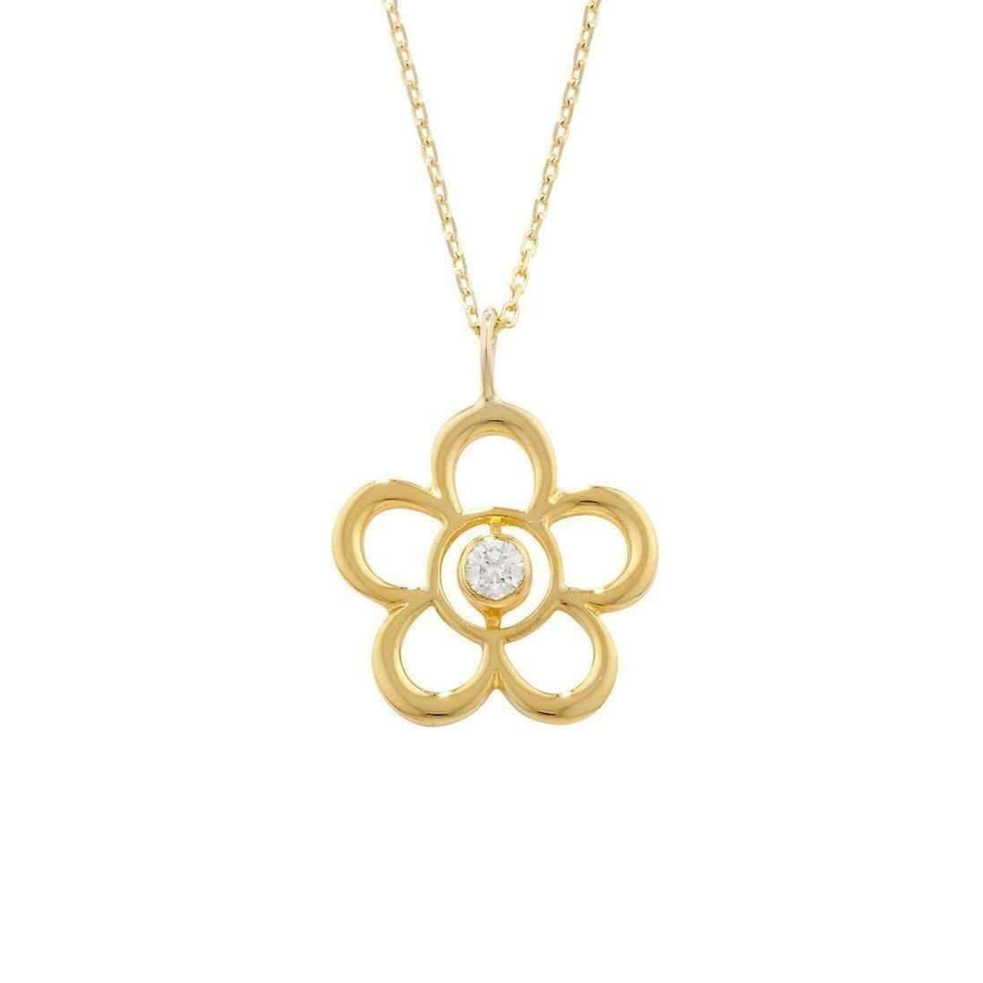 London Road Jewellery Kew Yellow Gold Posy Cluster Pendant 97Eo5H