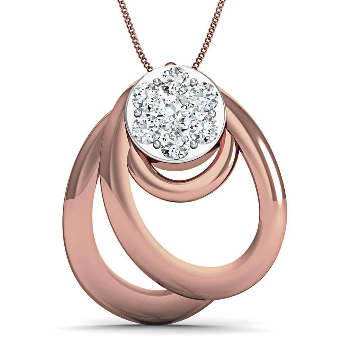 Diamoire Jewels Diamoire 10kt Rose Gold Diamond Pendant Inspired by Nature snlTs4Kj