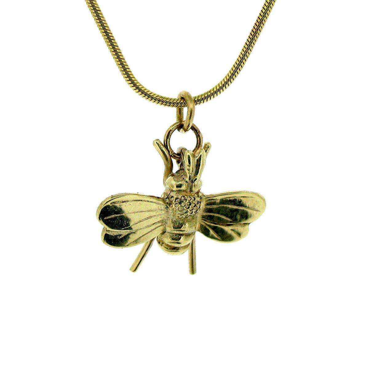 Will Bishop Gold Vermeil Bee Charm 7qudJa
