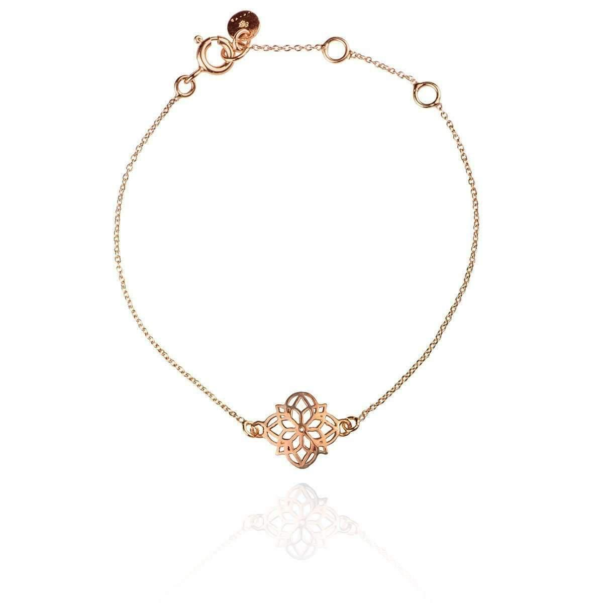 Zefyr Dosha Bracelet Rose Gold With Rose Quartz S1lqehz