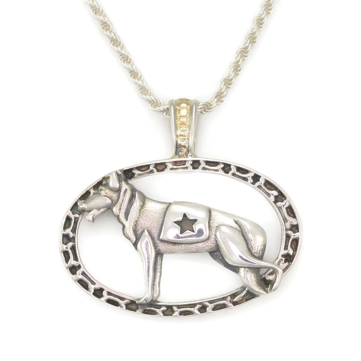 Donna Pizarro Designs Sterling Silver American Eskimo Necklace With 14kt Accent U6O13S5