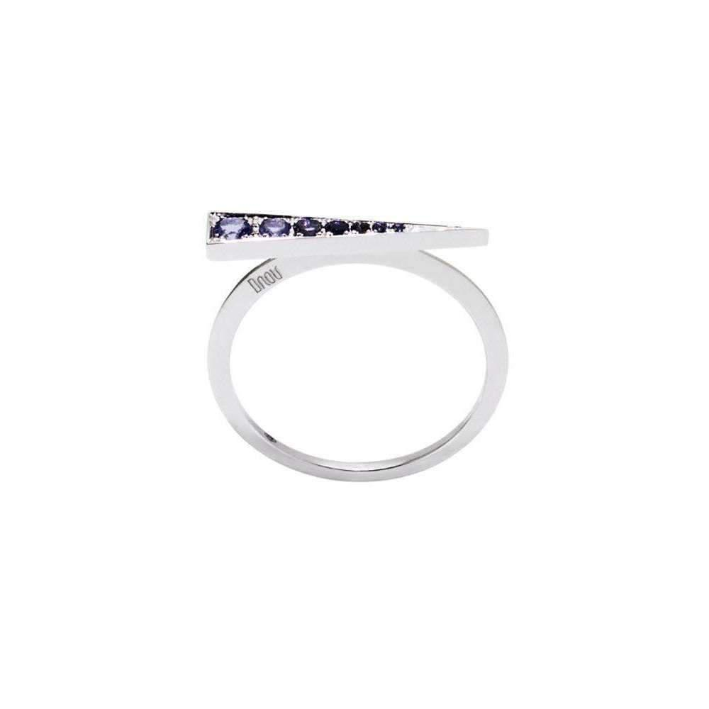 Daou Jewellery White Gold & Iolite Spark Ring - UK O 1/2 - US 7 1/4 - EU 55 3/4 HweC2SmV
