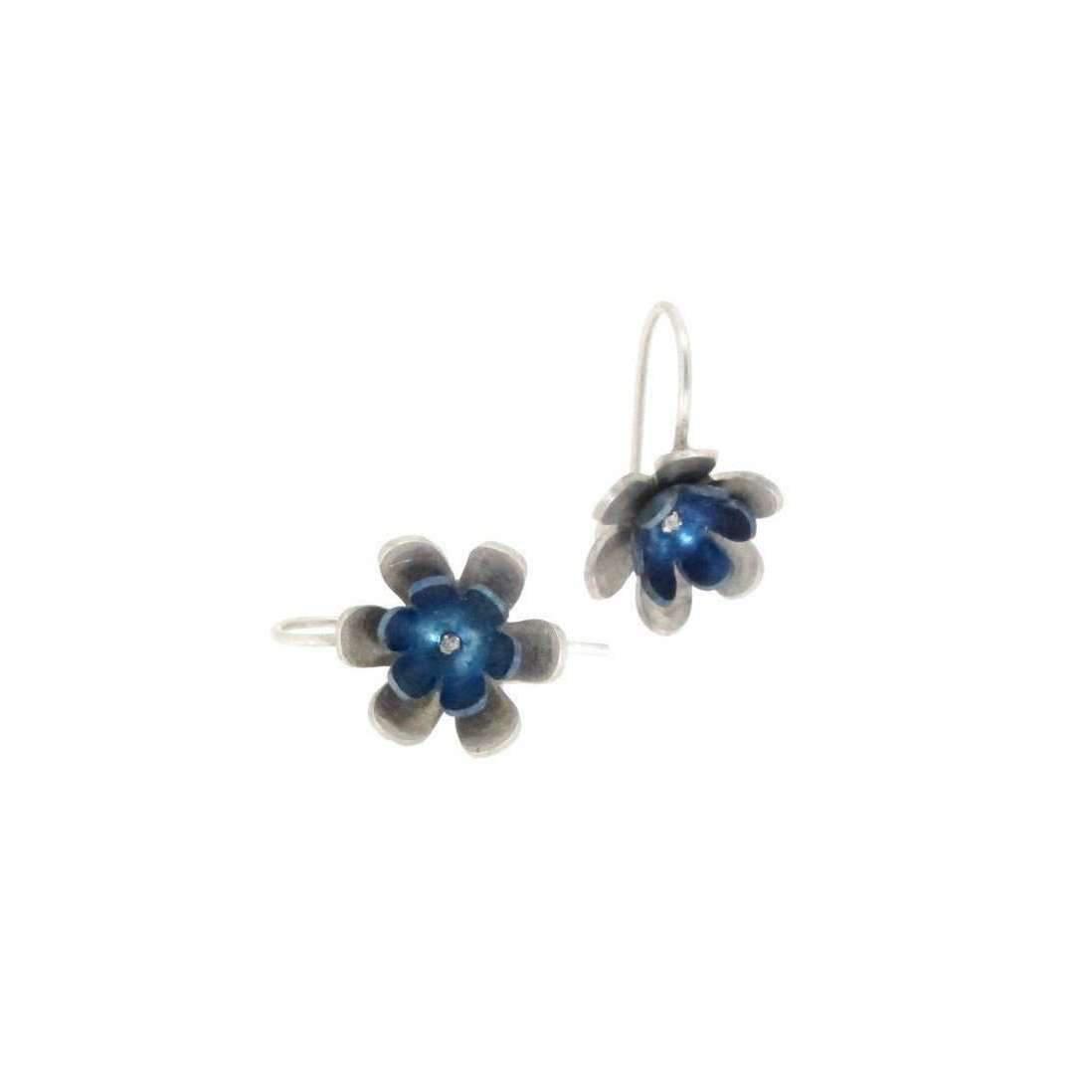 Sian Bostwick Jewellery Forget-me-not double Flower Drop Earrings oEQwajaID