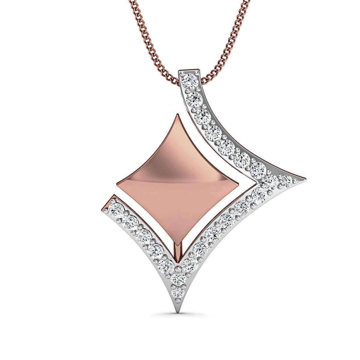 Diamoire Jewels 14kt Rose Gold Diamond Pendant Inspired by Nature njncYUN