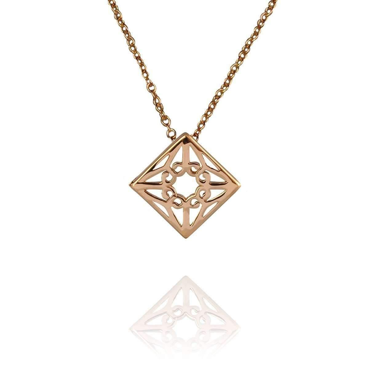 Zefyr Mandala Necklace Rose Gold