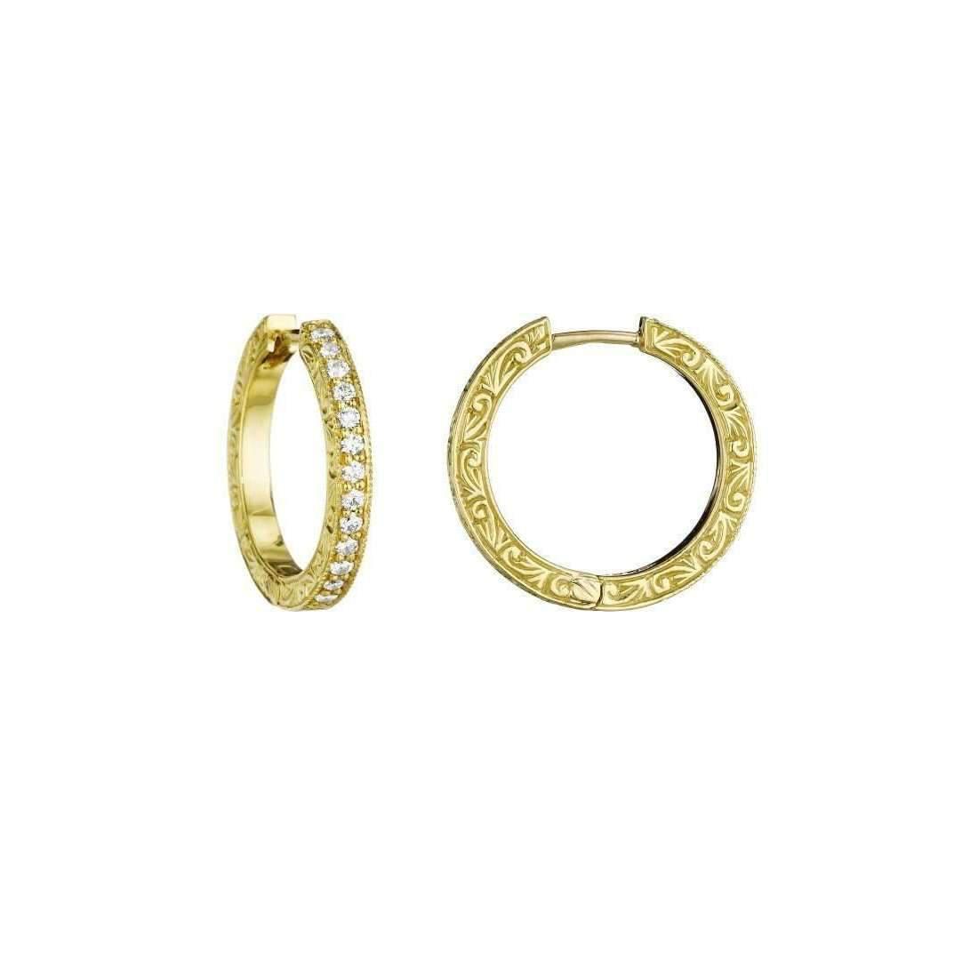 Penny Preville Oval Diamond Hoop Earrings 9uANtRFde3