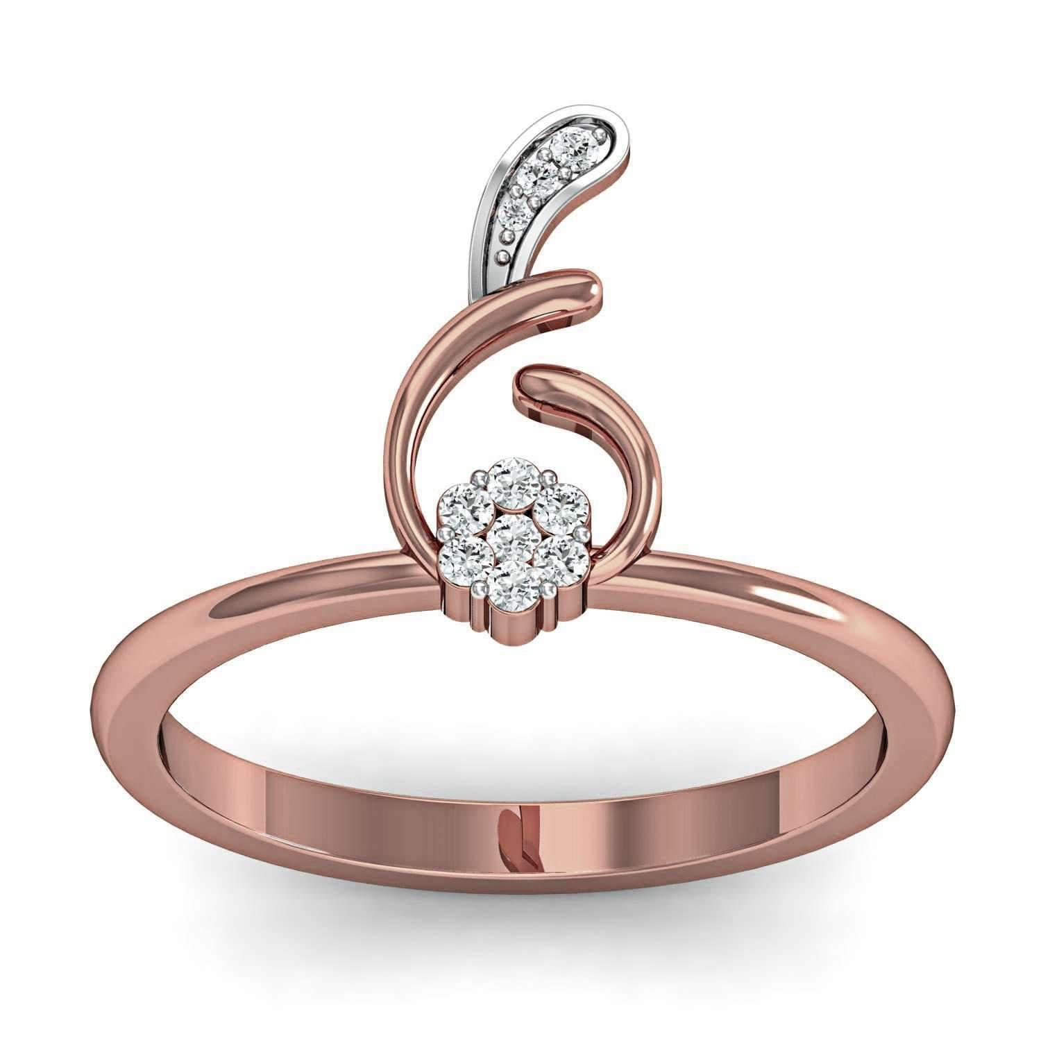 Diamoire Jewels Elegant Diamond Ring in 18kt Rose Gold eZrq2