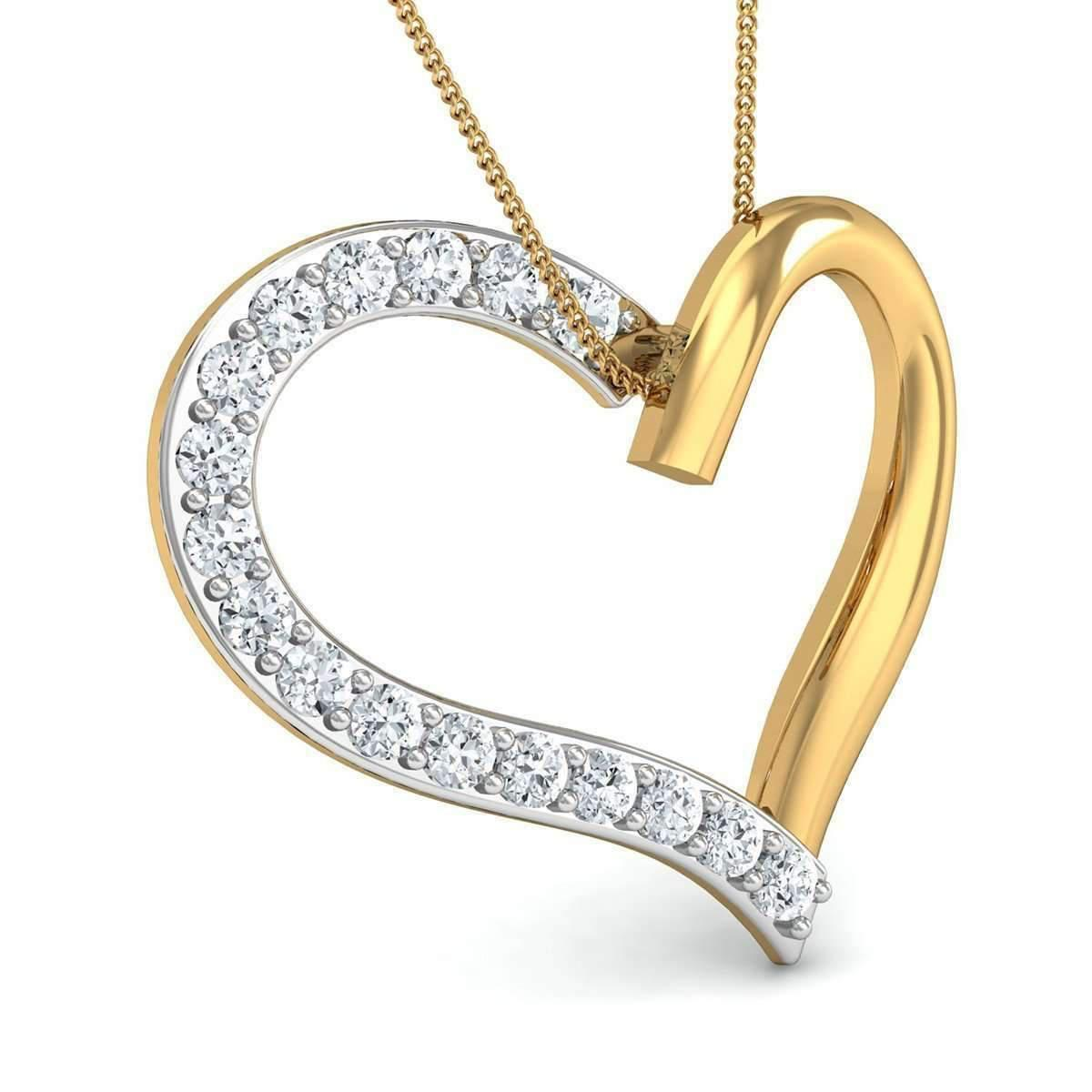 Diamoire Jewels Hand-carved Heart in 10kt Rose Gold and Premium Quality Diamonds DPOZaP