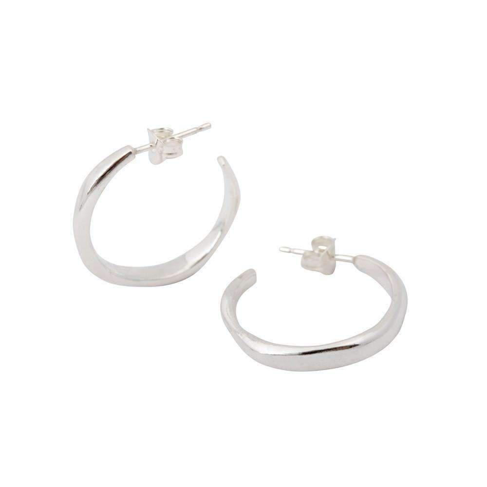 64d0ad6fba7 Lyst - Corinne Hamak Unity Small Hoop Stud Earrings in Metallic