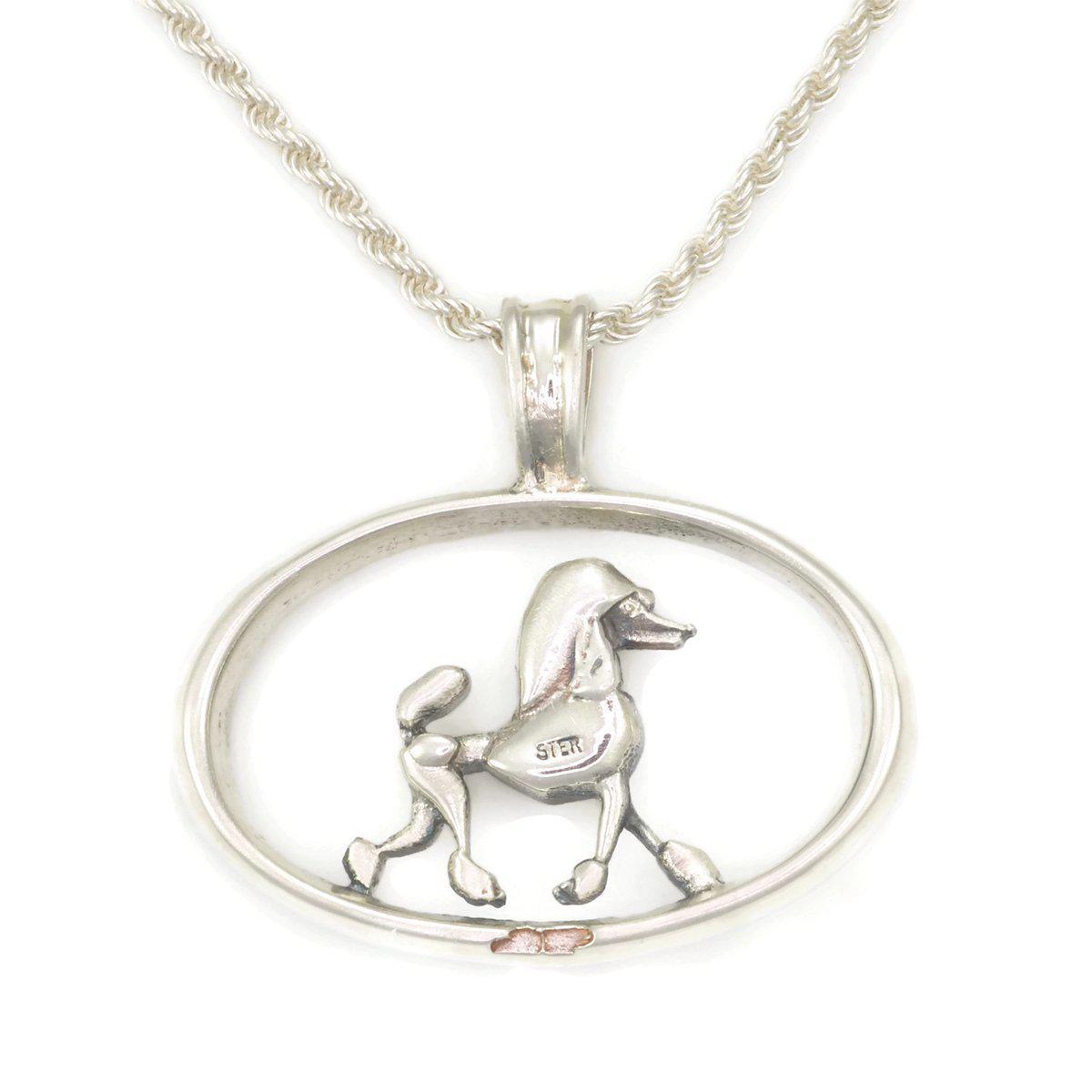 Donna Pizarro Designs Sterling Poodle Necklace With 14kt Accent Vx3hm