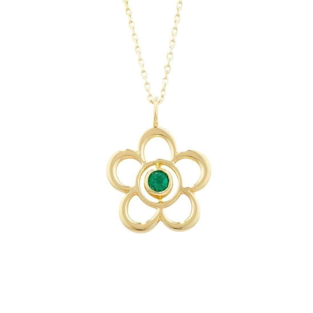 London Road Jewellery Blossom Birthstone Yellow Gold Amethyst Pendant C8IftdaSp