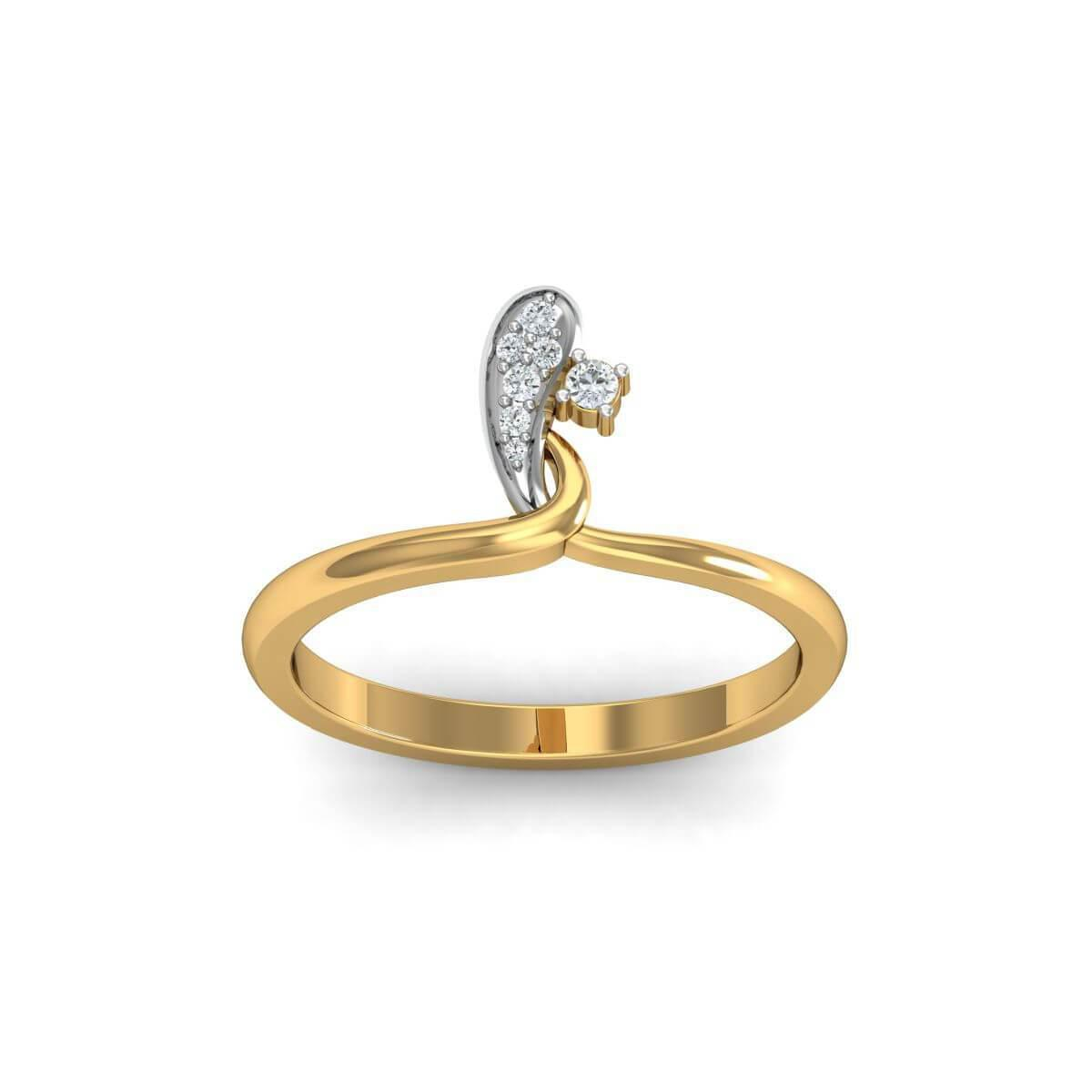 Diamoire Jewels 18kt Yellow Gold Pave 0.07ct Diamond Infinity Ring III - UK G 1/4 - US 3 1/2 - EU 45 3/4 Emvem5