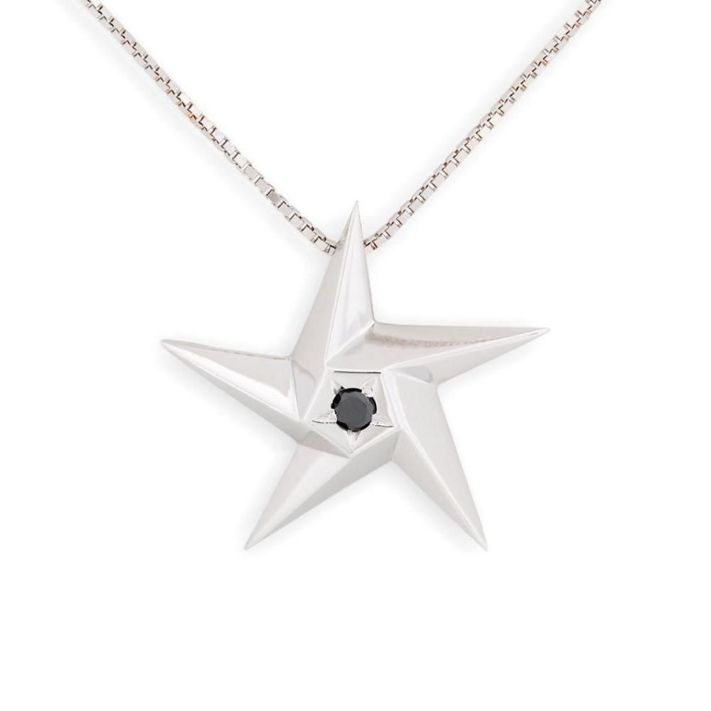 Daou Jewellery 18kt Gold & Black Diamond Black Hole Star Pendant - 16 M7qtxV4ck