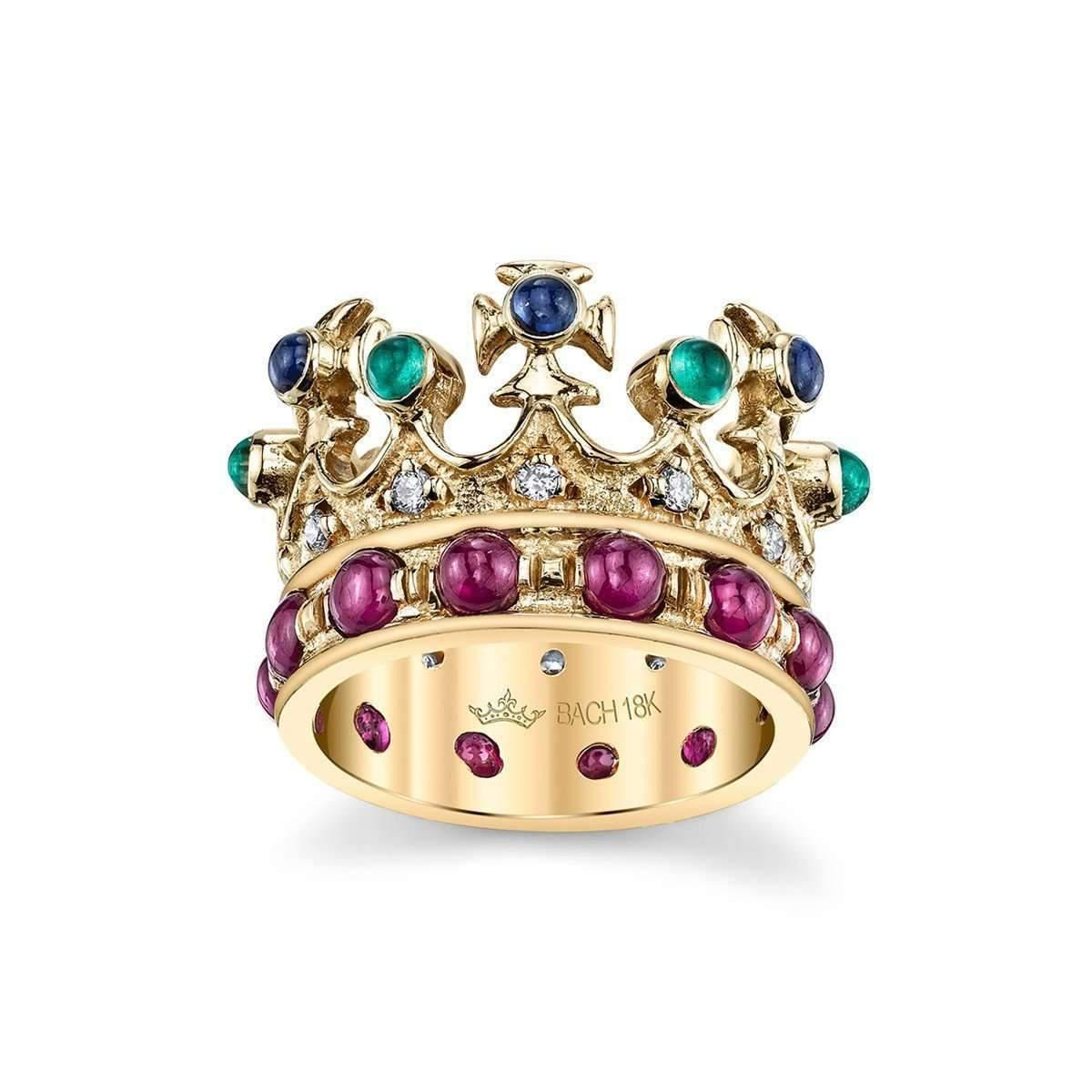 Lyst - Cynthia Bach Queen Elizabeth Crown Ring With Multi-colour ...