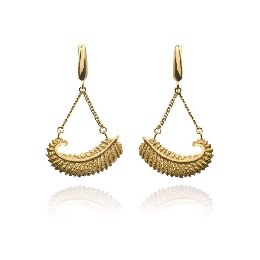Patience Jewellery Fern Chain Earrings VM qT30dBX2