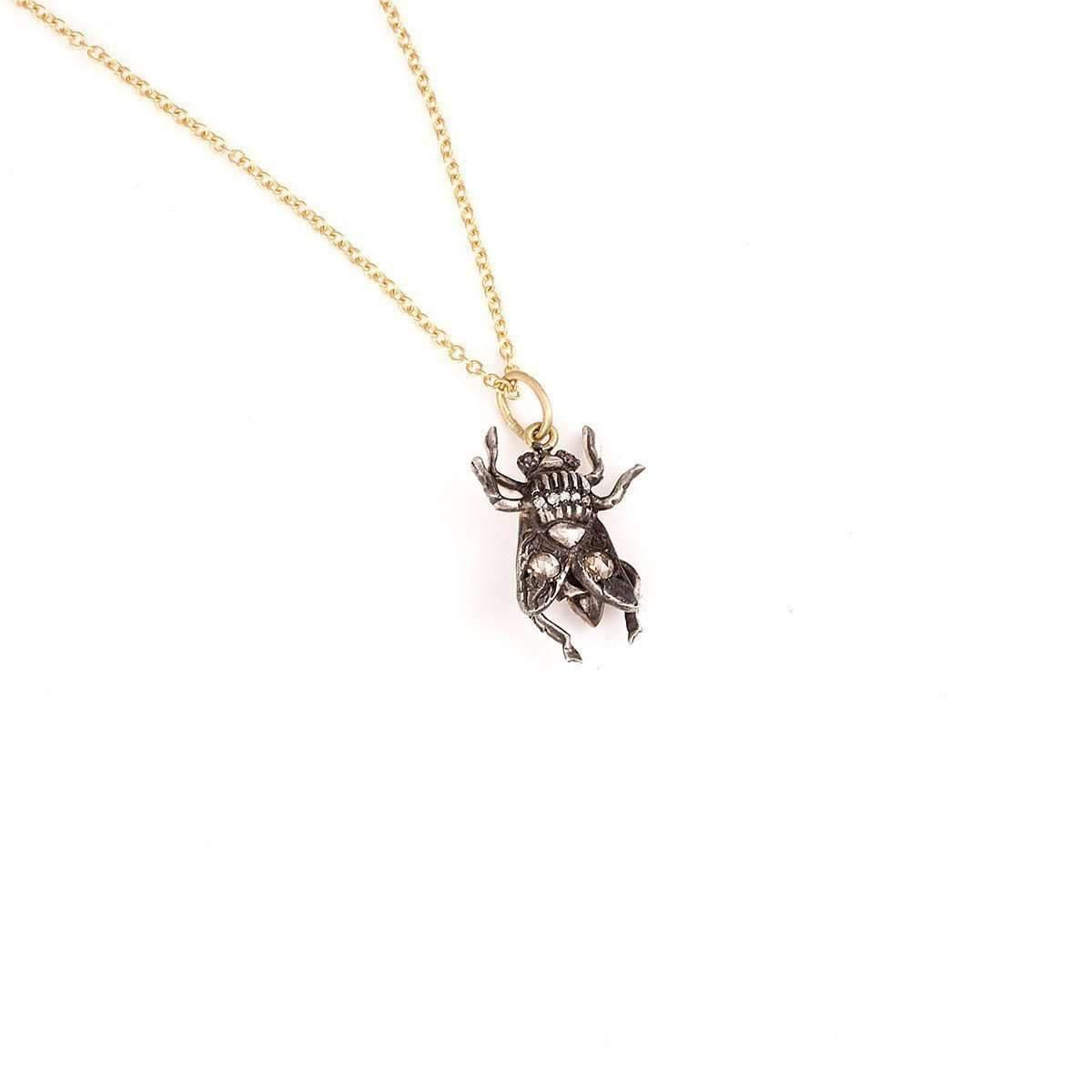Sylva & Cie. Fly Pendant with Chain IvYyI3b3j