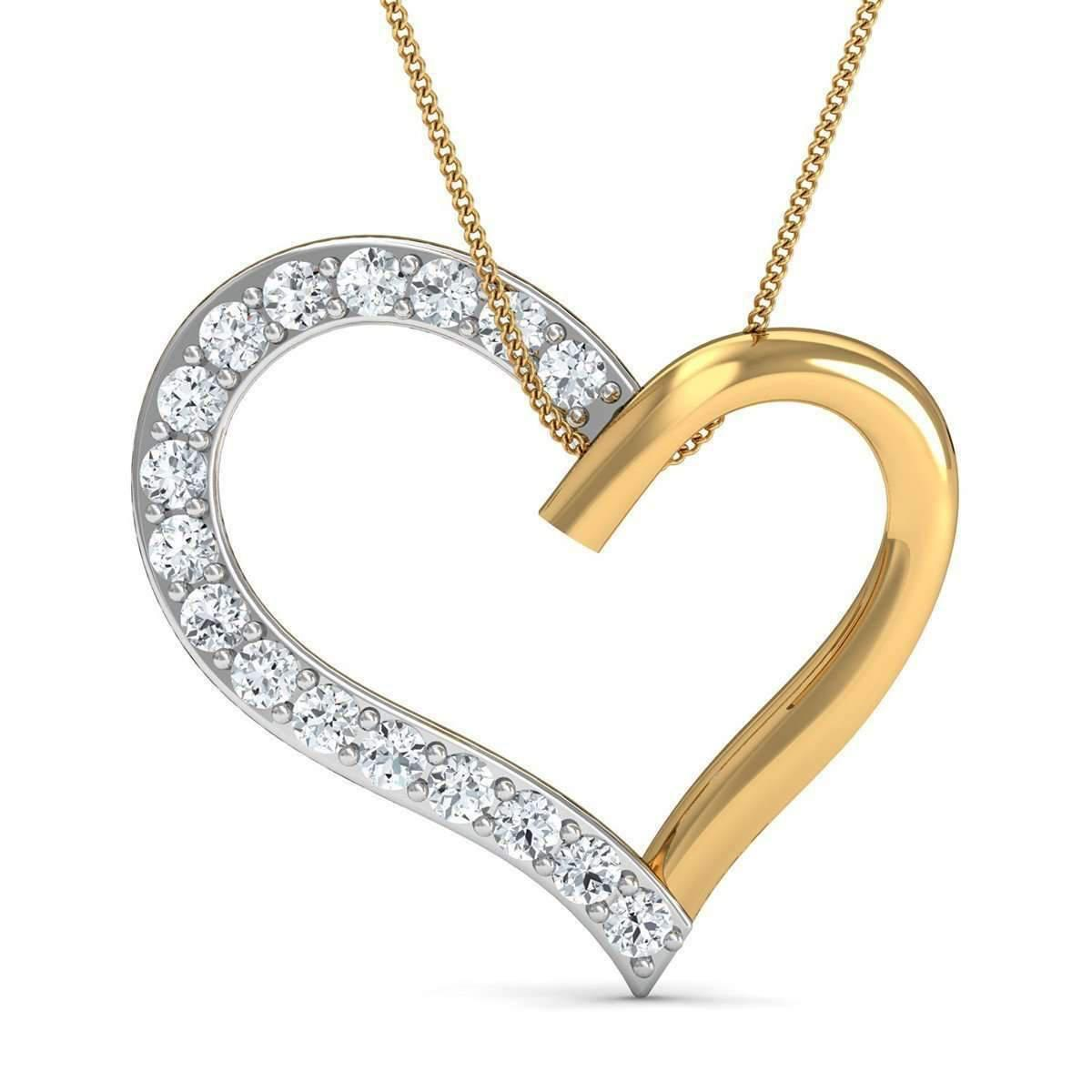 Diamoire Jewels Hand-carved Heart in 18kt Yellow Gold and Premium Diamonds jbxjn